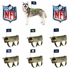 NFL DOG TACTICAL VEST w/Flag * Choose Your Team * Football Fan Pet Puppy Jacket