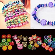 100 PCS Clay Beads DIY Slices Mixed Color Fimo Polymer Clay ZZ