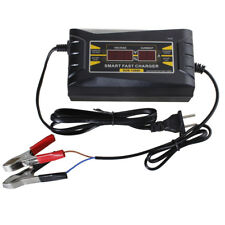 12V 6A Smart Fast Lead Acid Auto Car Motorcycle Battery Charger LCD Display