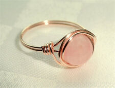 Women Natural Pink Opal 925 Silver Jewelry Wedding Engagement Ring Size 6-10