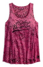 Harley-Davidson® Women's Pink Label Leopard Print Sleeveless Tank Top 96032-18VW