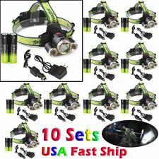 50000LUMENS T6 LED Headlamp Headlight Head Torch Lamp 18650 Charger Flashlight _