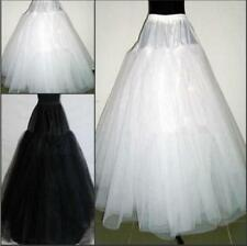 3 Layers Hoop less White/Black Bridal Petticoat Wedding Underskirt Crinoline1905