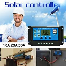 LCD 10A - 30A 12V/24V Solar Panel Controller Regulator Charge Battery Protection
