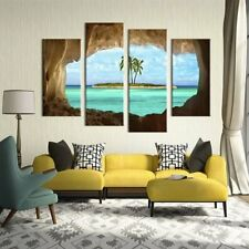 4Pcs/lot Abstract Landscape Canvas Wall Art Painted Oil Painting Home Decor