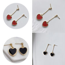 Long Section Earring  Heart Love Retro Fashion Long Dangle Chain  Jewelry Women