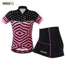 Women Cycling Suit Breathable Bike Jersey Gel Padded Shorts Summer Skirt Lady