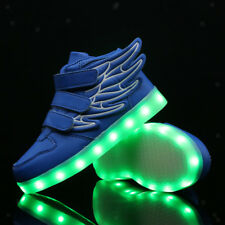LED Kid Shoes Boys Girls Light Up Sneakers Toddler Luminous Casual Trainers Blue