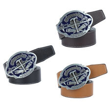 Mens Leather Belt Famous Enamel Carpenter Guaranteed To Perform Buckle Belt