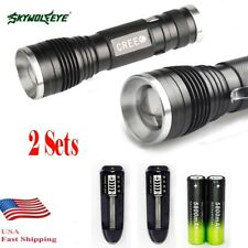 20000LM  XM-L T6 LED Flashlight Torch 18650 Zoomable Rdjustable Focus Lamp USA@
