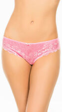 Womens Cut Ties Pink Hipster Panty, Pink Lace Panty