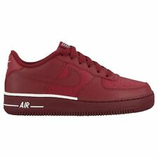 Nike Air Force 1 Team Red White Youth Leather Low-Top Casual Sneakers Trainers