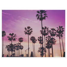 Sunset And Palm Trees Photography Wall Art Poster