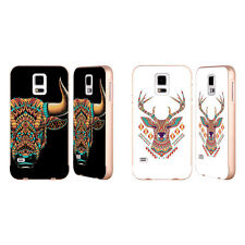 OFFICIAL BIOWORKZ COLOURED ANIMAL HEAD 3 GOLD SLIDER CASE FOR SAMSUNG PHONES