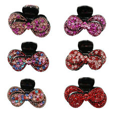 Sweet Crystal Rhinestone Ladies Large Hair Claw Clamps Clips Bowknot Clamp