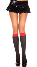 One Size Fits Most Womens Two Tone Knee Highs, Costume Hosiery