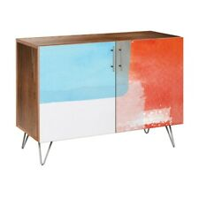 NYE Koncept Retro Shades Hairpin Credenza, Walnut/Chrome - 13002853
