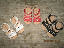 CLEARANCE SALE! INFANT TO TODDLER GIRLS SANDALS~BLACK~WHITE or PEACHY PINK