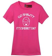 Go Shawty Its Sherbert Day Funny Ladies Soft T Shirt Birthday Party Gift Tee Z4