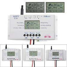 Solar Panel Regulator LCD 10/20/30/40A 12V/24V MPPT Charge Controller 3 Timer TЖ