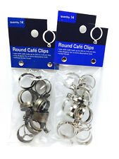 3/4-Inch Round Cafe Curtain Clips - 14 Clips Per Package (Pick your Color)