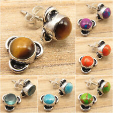 925 Silver Plated Antique Look Earrings ! Affordable Wedding Jewelry