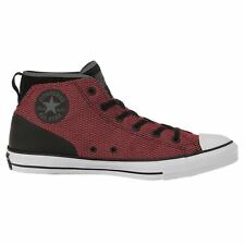 Converse Chuck Taylor All Star Syde Street Mid Black Red Womens  Trainers