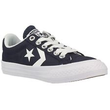 Converse Star Player Ev Ox Athletic Navy White Youth Canvas Trainers Shoes New