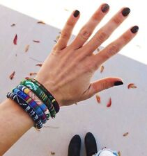 Sustainable Eco-Friendly Recycled Polyester Woven Bracelet