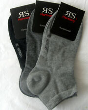 3 Pairs Men's Harmony Trainers Short Sock Socks with Cotton Grey 39 to 46