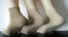 3 Pairs Men's Harmony Trainers Short Sock Socks with Cotton Beige 39 to 46