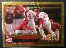 2012 Topps Baseball Gold Sparkle Cards (Complete Your Set)