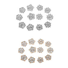 Lot 12PCS Mixed Silver/Gold Tone Crystal Rhinestone Wedding Bouquet Brooch Pin