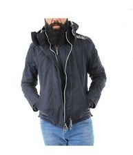 Superdry Windbreaker Men POP ZIP HOODED ARCTIC French Navy Jacket