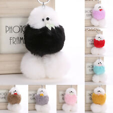 Women's Key Ring Cute Dog Puppy Lovely Fluffy Ball Keychain Bag Pendant New