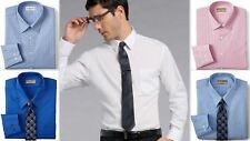Mens Shirt Van Heusen Tailored Fitted Cotton Blend Easy Iron Long Sleeve
