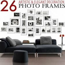 26 PCS Modern Design Photo Frame Set Picture Frames Multi Bulk Wall Decor IN ON