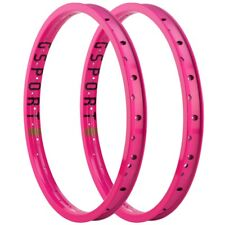 "PAIR OF GSPORT BMX BIKE ROLLCAGE 20"" RIMS HOT PINK LIMITED EDITION ODYSSEY"