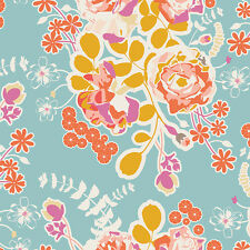 Blue Floral Quilting Cotton Fabric   Orchard Blossom Spring   Sweet as Honey AGF
