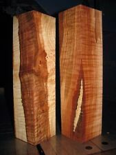 2 VERY FIGURED MAPLE WOOD TURNING LUMBER  3x3 x 12 -12-3/4 PEPPER MILL BLANK