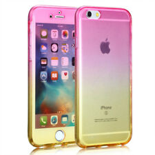 360 Slim Shockproof Hard Back Phone Case Cover for Apple iPhone 7 Yellow/Pink