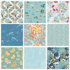 Quilting Fabric with Bees | Blue Floral Fabric Bundle | Gardening | Art Gallery