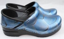 Dansko Professional Blue Shell Patent Leather Clogs Doctor/Nurses/Chef Shoes