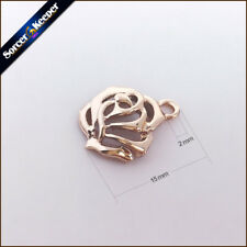 15mm KC Gold Tone Rose Flower Charms Pendants Findings For Jewelry Making XSP03