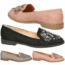 Mariana Ladies Flats Jewel Ballet Womens Occasion Casual Ballerina Loafers Shoes