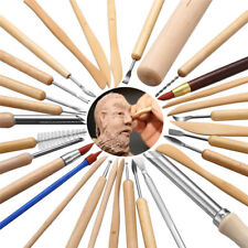 31PCS Clay Sculpting Wax Carving Pottery Tools Shapers Polymer Modeling Kit GS