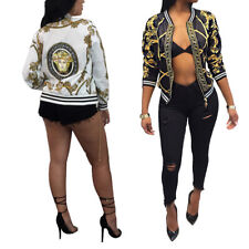 New digital positioning printing long sleeve jacket thin section coat womens Top