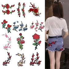 Embroidery Rose Flower Sew On Patch Badge For Bag Jeans Dress Applique Craft DIY