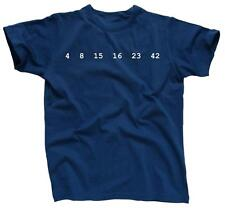 4 8 15 16 23 42 LOST Numbers Dharma Funny Tee - Men's T-Shirt - NEW - Blue
