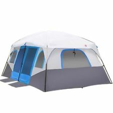 Large Family Tent Outdoor Camping Waterproof Windproof 12 Person Event Cabin New